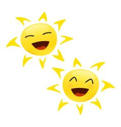 smiling happy sun vector image