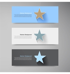 Banner background white star vector