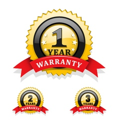 Warranty emblems vector