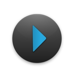 Black button with the play icon vector