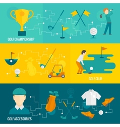 Golf banners set vector image