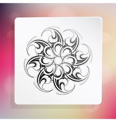 Graphic design element with ethnic ornament vector