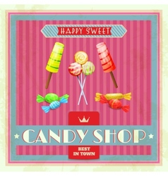 Sweet shop poster vector