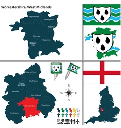 Worcestershire west midlands vector