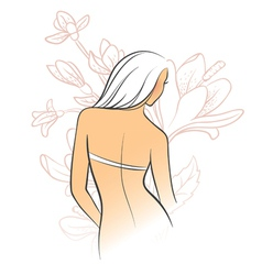 back flower vector image