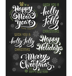 Christmas calligraphy vector