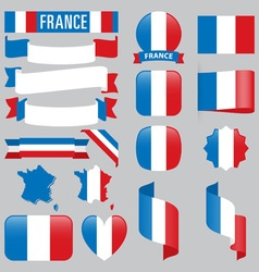 France flags vector