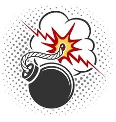 Pop art style bomb vector
