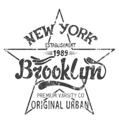 Brooklyn print design vector
