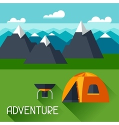 Background with of mountain landscape vector image vector image