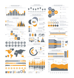 big set of infographics elements vector image vector image
