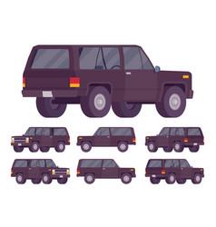Black offroad set vector