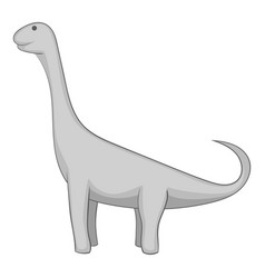 brachiosaurus icon monochrome vector image vector image