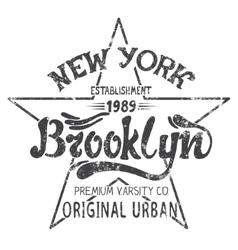 Brooklyn print design vector