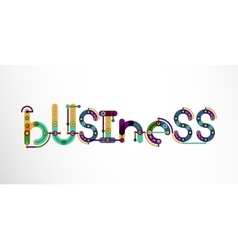 Business word lettering vector image