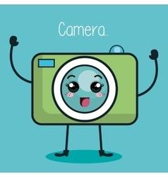 Camera photographic character kawaii style vector