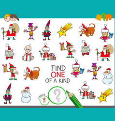 Christmas one picture of a kind cartoon game vector