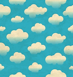 Clouds in the sky Seamless pattern vector image vector image