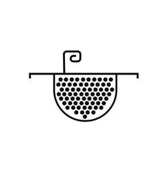 Colander icon vector