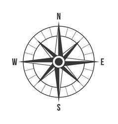 compass silhouette vector image vector image