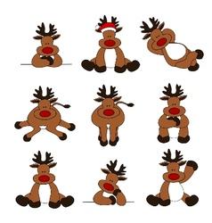 cute christmas reindeer collec vector image