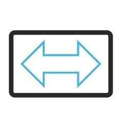 Exchange horizontal framed icon vector