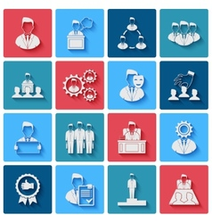 Executive Icons White vector image
