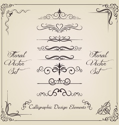 Filigree set vector