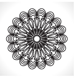 flower mandala for coloring book vector image