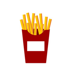 french fries on white background vector image