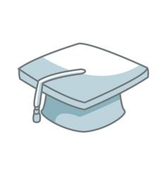 Graduation cap school finish success concept vector