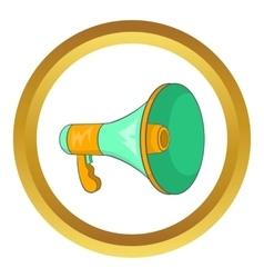 Green loudspeaker icon vector