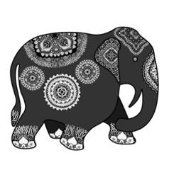 Hand drawn indian elephant vector