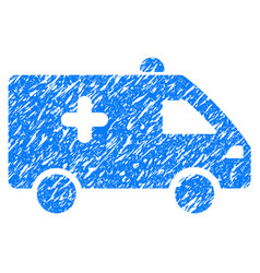 hospital car grunge icon vector image