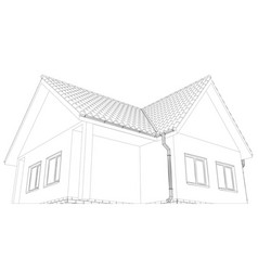 House on the white background vector