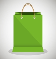 icon bag green shop paper design vector image vector image