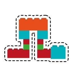 Isolated blocks toy design vector