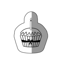 Isolated muffin design vector