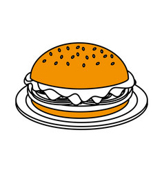 junk food design vector image vector image