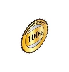 Label premium quality icon isometric 3d style vector image vector image