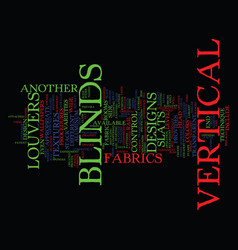 Learn facts about vertical blinds text background vector