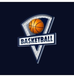 Logo for a basketball team or a league vector