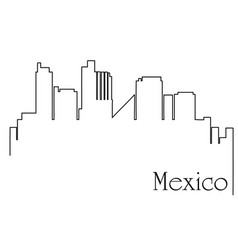 Mexico city one line drawing vector