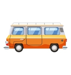 Mini bus icon cartoon style vector image