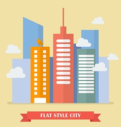 Modern building in flat style vector image vector image
