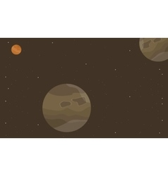 Outer space planet on brown backgrounds vector