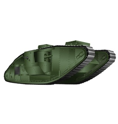 Painting british tank 1st world war vector