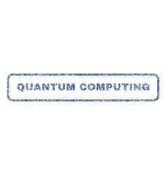 Quantum computing textile stamp vector