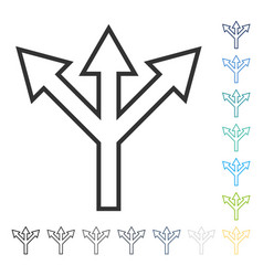 Split arrow icon vector
