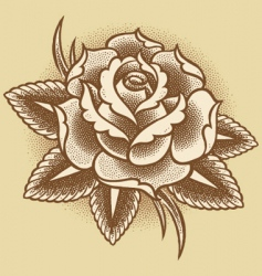 stippled rose vector image vector image